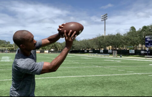 catching the ball for defensive back